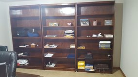 3 Wood shelving units in Joliet, Illinois