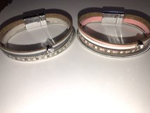 New Leather and Metal Bracelets with Magnetic Closure - 2 Colors available in St. Charles, Illinois