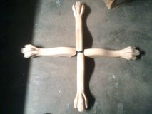 Red Oak claw foot table legs (new) in Alamogordo, New Mexico