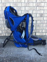 Blue baby or child carrying back pack in Fort Polk, Louisiana