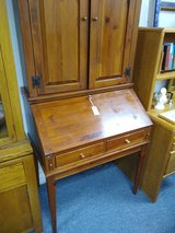 Ethan Allen Drop Down Desk with Top Cabinet in Naperville, Illinois