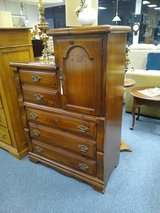 Pine Chest of Drawers with Attached Cabinet in Naperville, Illinois