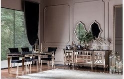 United Furniture - Complete Dining Set Class - Table+6 Chairs+Sideboard+Mirrors+Vitrine + delivery in Spangdahlem, Germany