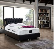 United Furniture - Bahama Full Size bed in black or white with storage incl. mattress and delivery. in Ramstein, Germany