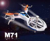New! Lightning Fast Mini RC Quadcopter M71 Remote Control Drone like Spacecraft in Orland Park, Illinois