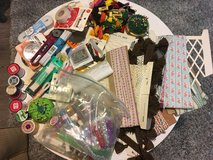 Large Lot of Sewing Supplies- Embroidery Thread/Glitter/Vintage Trim in Bolingbrook, Illinois