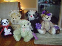 Set of 5 Annette Funicello Mohair Bears in Toms River, New Jersey