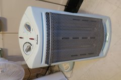 large space heater 1' W X 2' T on & off bases ok in Okinawa, Japan