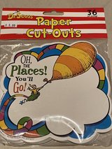 Dr Seuss Oh the Places You'll Go Paper Cut-Outs NIP in Okinawa, Japan