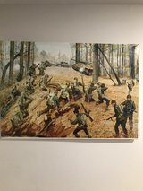 WWII Replica Historical painting in Fort Leonard Wood, Missouri