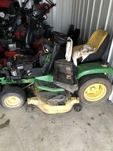 """john deere GT235 tractor for repair or parts 18hp. twin motor 48"""" deck has small leak not bad. in Yorkville, Illinois"""