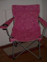 Fold-Up Pink Camp Chair in Beaufort, South Carolina