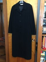 LIKE NEW PRESTON & YORK BLACK WOMAN'S WOOL (DRY CLEANED) COAT - SIZE 16 in Chicago, Illinois