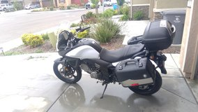 Suzuki V-Strom 650 in Travis AFB, California