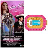 Ana Gabriel tickets! Excellent seats! Section 1! in Glendale Heights, Illinois