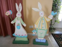 Mr and Mrs Easter Bunny Figures Over 3 feet Tall in Plainfield, Illinois