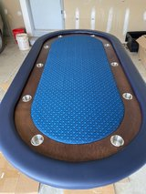 Custom Blue Poker Table in Tinley Park, Illinois