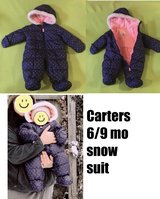 6/9mo Carters snow suit in Naperville, Illinois