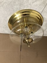Brass 3 Bulb Ceiling Light Fixture in Tinley Park, Illinois