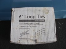 NEW BOX OF 6 INCH  LOOP TIES (1000PCS.) in Yorkville, Illinois