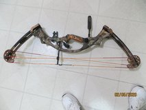 Left handed Hoyt LazerTec 50th Anniversary Bow 60-70lb in Travis AFB, California