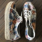 Call it Spring size 8 floral espadrille sneakers in Byron, Georgia