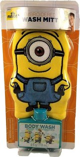 NEW Kids Despicable Me Minions Bath Wash Mitt and Body Wash Gift Pack in Chicago, Illinois