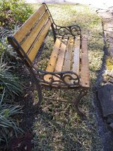 Small Antique iron bench in Kingwood, Texas
