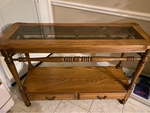 Solid Oak Sofa Console Table in The Woodlands, Texas