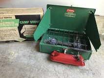 Vintage Coleman 425E camp stove with original box in Chicago, Illinois
