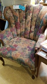 2 Floral Tapestry-Look Chairs #713-63 in Camp Lejeune, North Carolina