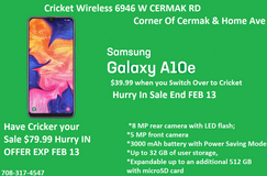 CRICKET WIRELESS 6946 W CERMAK RD VALENTINES SALE HAS STARTED HURRY IN in Westmont, Illinois