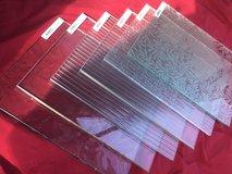6 Thick Art Glass Squares in Naperville, Illinois