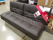 Sofa, SofaBed, Black Leather in Naperville, Illinois