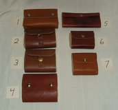 Handmade Fly Fishing Lure Leather Cases / Wool Interior ~ Quality ~ Assortment ~ NEW in Westmont, Illinois