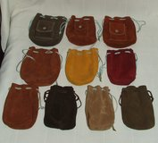 Handmade Draw String Leather Bags for Make-up Trinkets Marbles and More ~ Quality ~ Assortment ~... in St. Charles, Illinois
