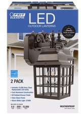 LED coach style wall light fixture 2 pack with bulbs in Las Vegas, Nevada