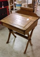 Antique child's desk in Fort Campbell, Kentucky