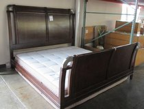 Dark Wood Tone King or California King Bed Frame in Westmont, Illinois