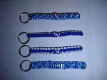 Paracord key Chains, blue and white colors with UK charm. Can also make bracelets with the UK ch... in Elizabethtown, Kentucky