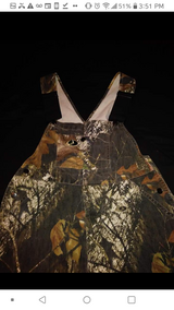 Hunting camo overalls in Spring, Texas