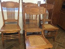 Antique Larkin OAK pressed back chairs 4 in Arlington, Texas