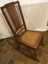 Antique OAK Slipper Nursing ROCKER cane bottom in Arlington, Texas