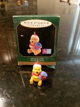 Hallmark Miniature Ornament Winnie the Pooh Honey of a Gift in Yorkville, Illinois