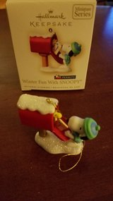 Hallmark Miniature Ornament Winter Fun with Snoopy #10 in Yorkville, Illinois