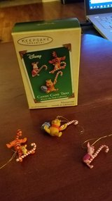 Hallmark Miniature Winnie Tigger Piglet Candy Cane Trio in Yorkville, Illinois