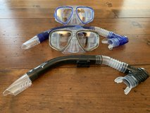 Set of 2 Speedo Dive snorkel and goggle sets in Kingwood, Texas