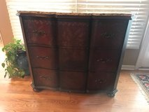 Decorative three drawer dresser with removable granite top in Westmont, Illinois