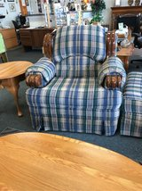Plaid Chair with Ottoman in St. Charles, Illinois