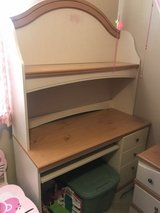 Girls Ashley Furniture desk and hutch and nightstand in Travis AFB, California